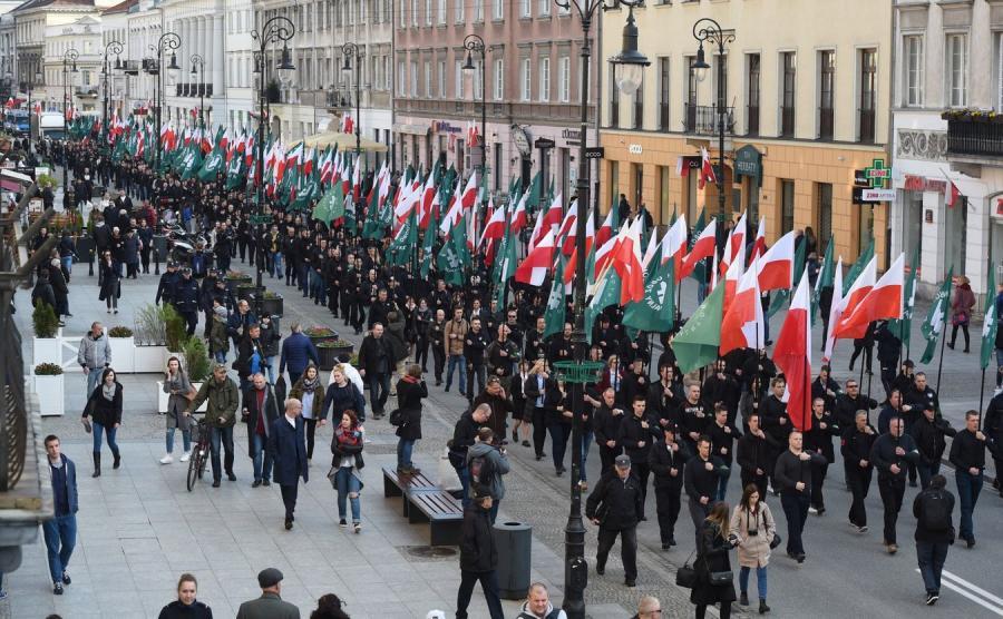 Rocznicowy marsz ONR i kontrdemonstracja Obywateli RP