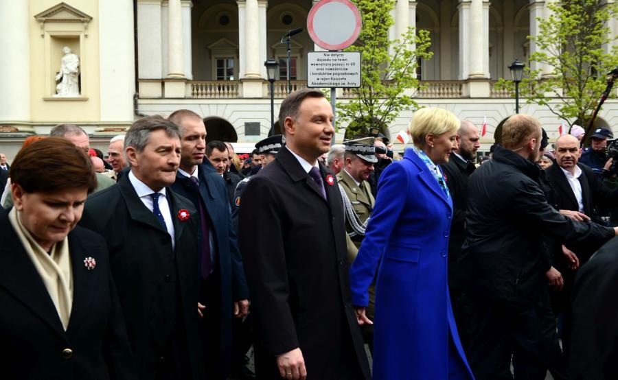 Prezydent Andrzej Duda z małżonką Agatą