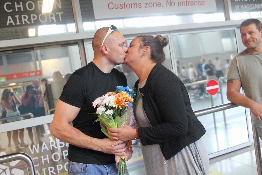 Krzysztof Głowacki i jego żona Karolina