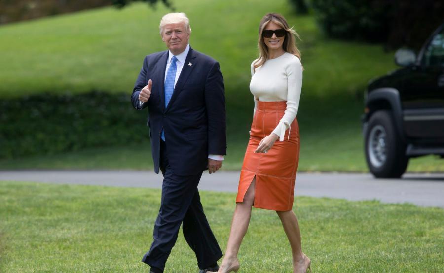 Prezydent Donald Trump wraz z żoną Melanią