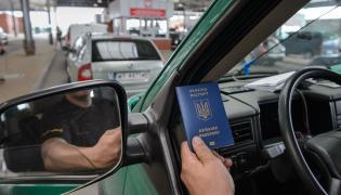 Ukraińcy na przejściu granicznym