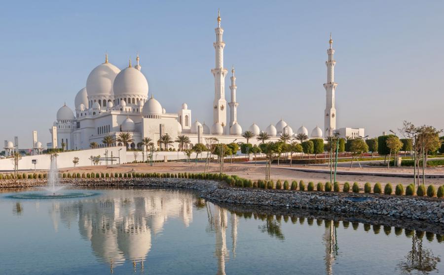 Słynny meczet w Abu Zabi