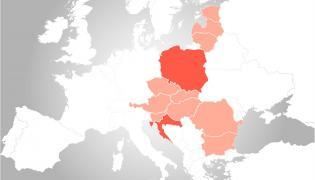 Trójmorze - kraje należące do sojuszu