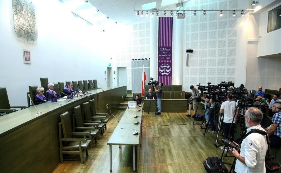 Sędziowie Sądu Najwyższego w czasie rozprawy kasacyjnej Mariusza Kamińskiego