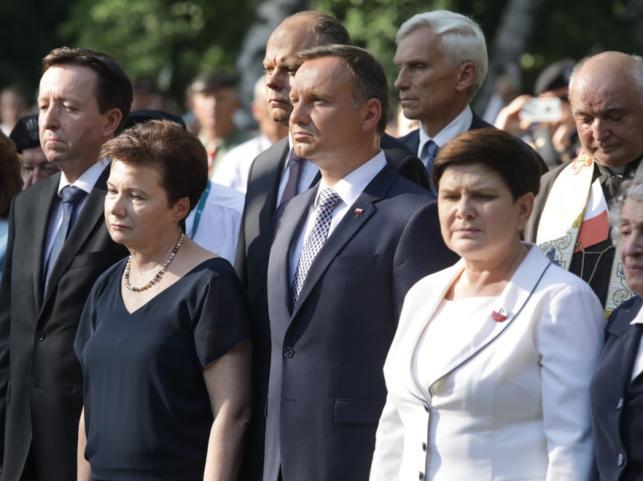 Hanna Gronkiewicz-Waltz, Andrzej Duda i Beata Szydło