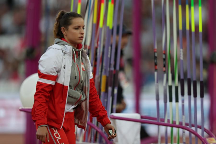 Marcelina Witek podczas eliminacji do finałowego konkursu w rzucie oszczepem