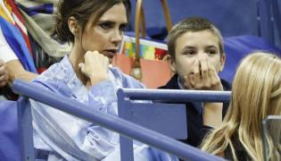 Victoria Beckham z synem Romeo