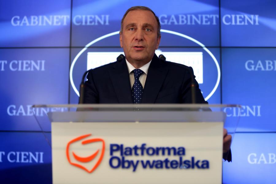 Lider Platformy Obywatelskiej Grzegorz Schetyna