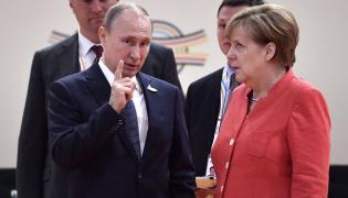 Angela Merkel i Władimir Putin