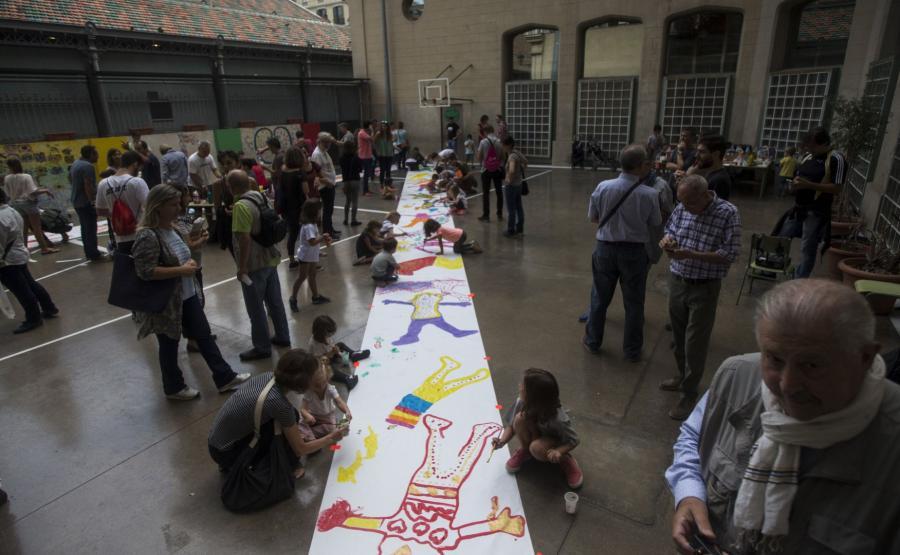 Okupacja szkoły w Barcelonie