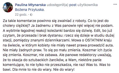 Post Pauliny Młynarskiej