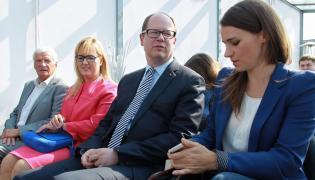 Prezydent Gdańska Paweł Adamowicz i Agnieszka Pomaska