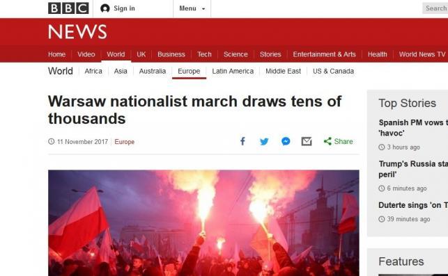 BBC o Marszu Niepodległości