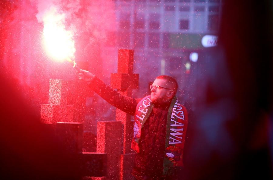 Uroczystości pogrzebowe byłego selekcjonera piłkarskiej reprezentacji Polski Janusza Wójcika