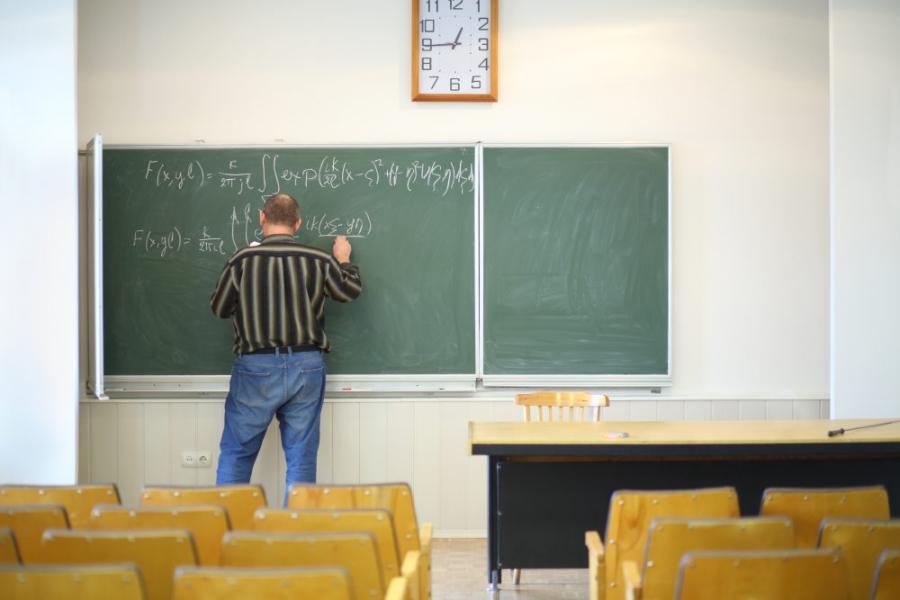 Nauczyciel szkoła tablica