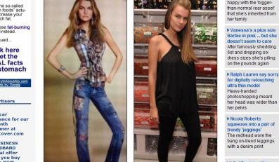 """Zobacz, jak Lauren """"odchudził"""" modelkę"""