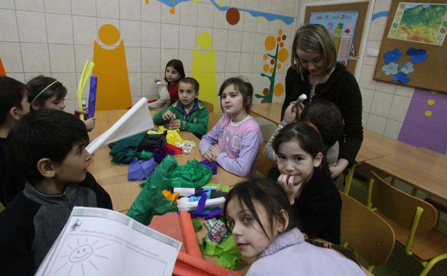 Dzieci w ośrodku dla uchodźców