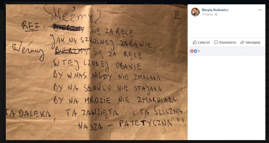 notatki Maryli Rodowicz
