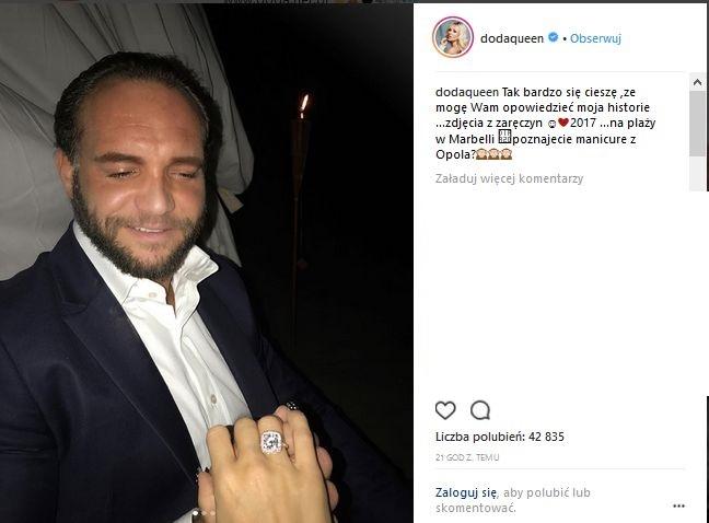 Doda i Emil Stępień w dniu zaręczyn