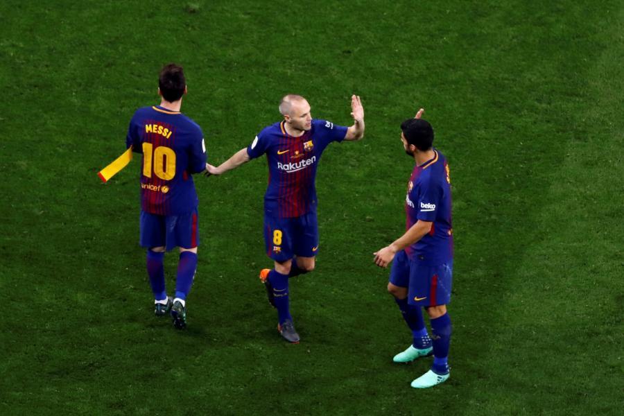 Andres Iniesta, Lionel Messi i Luis Suarez