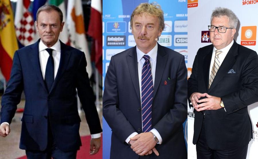 Donald Tusk, Zbignie Boniek i Ryszard Czarnecki