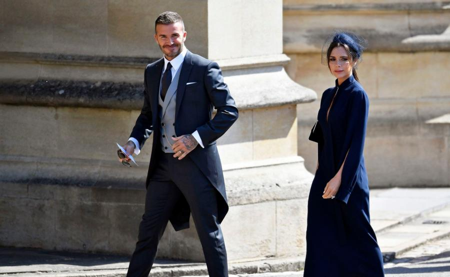David Beckham z żoną Victorią