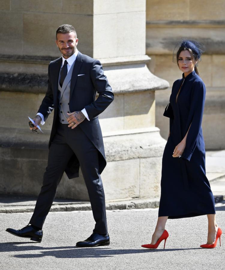 David Beckham i Victoria Beckham zadali szyku na ślubie księcia Harry'ego i Meghan Markle