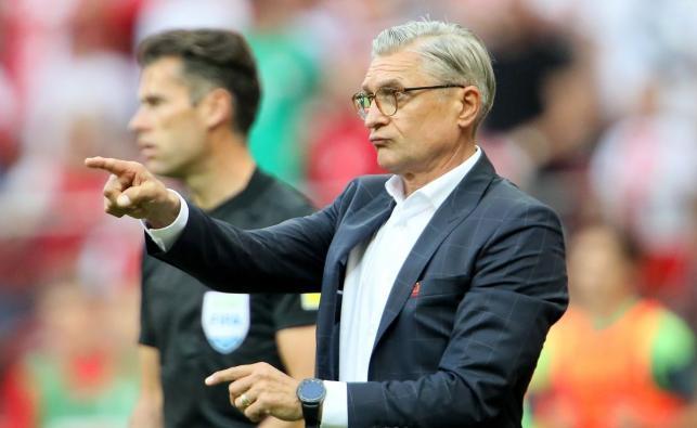 Trener piłkarskiej reprezentacji Polski Adam Nawałka podczas meczu towarzyskiego z Litwą