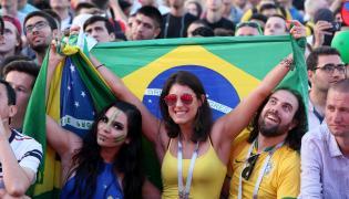 Kibicki Brazylii