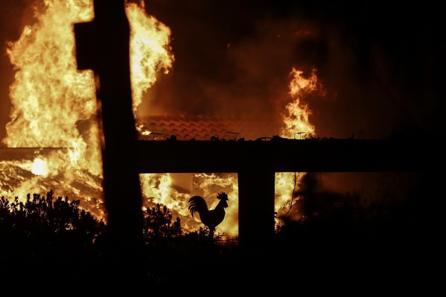 Ogień w Grecji