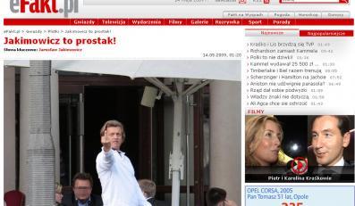 Jakimowicz pokazał środkowy palec