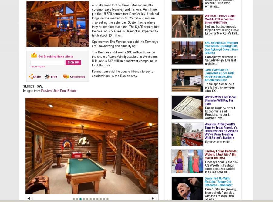 Mitt Romney sprzedaje luksusowe posiadłości