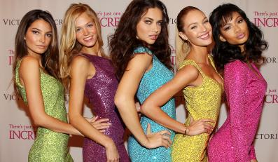 Od lewej: Lily Aldridge, Erin Heatherton, Adriana Lima, Candice Swanepoel i Chanel Iman