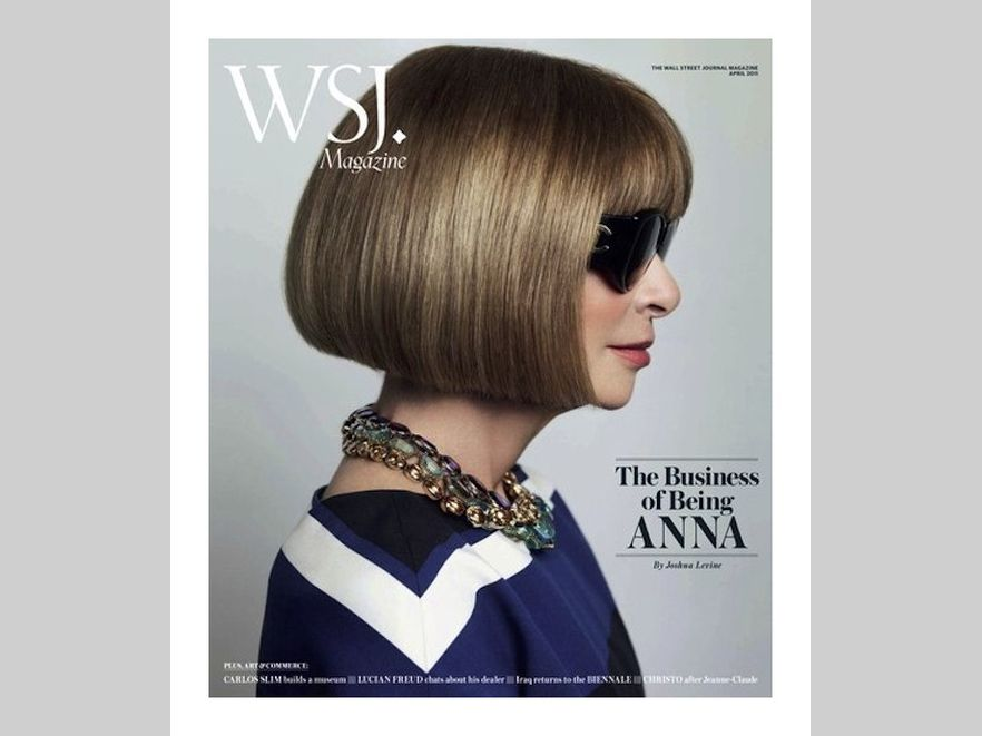 Anna Wintour na okładce Wall Street Journal. Fot. Mario Tesno
