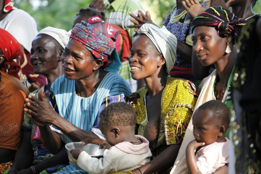 Kobiety, z którymi Małgorzata Ostrowska-Królikowska spotkała się w Burkina Faso