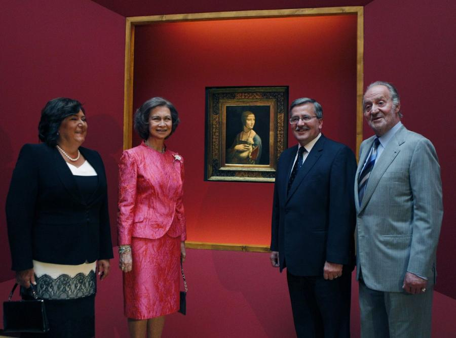 Prezydent wraz z małżonką oraz król Hiszpanii Juan Carlos i królowa Zofia