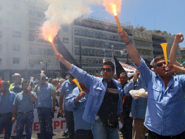 Grecy na ulicach. Nie chcą prywatyzacji