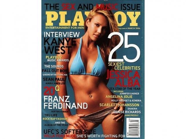 Aktorka Jessica Alba na okładce magazynu Playboy