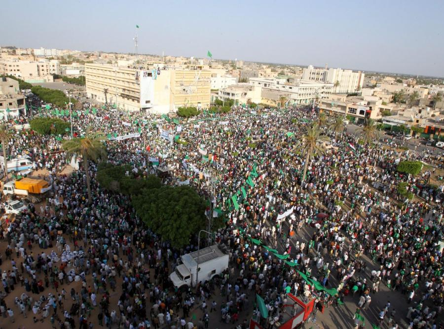 Demonstracja zwolenników Kadafiego