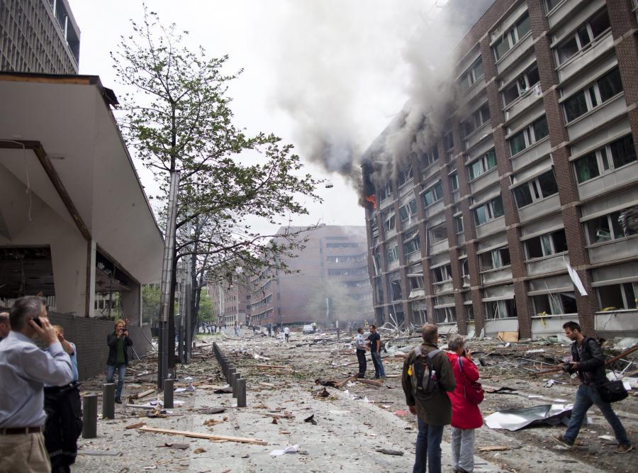 Zamach w rządowej dzielnicy w Oslo