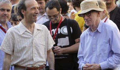 Woody Allen z włoskim aktorem Roberto Benignim