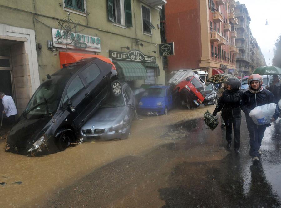 Genua pod wodą