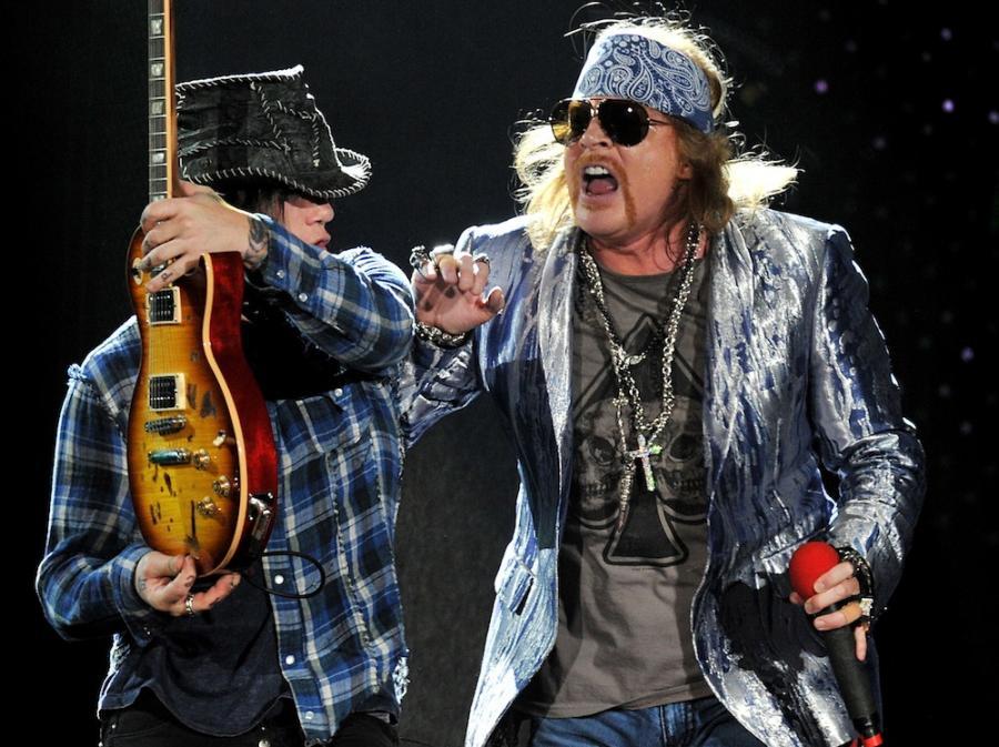 Guns N\' Roses wśród sław rocka