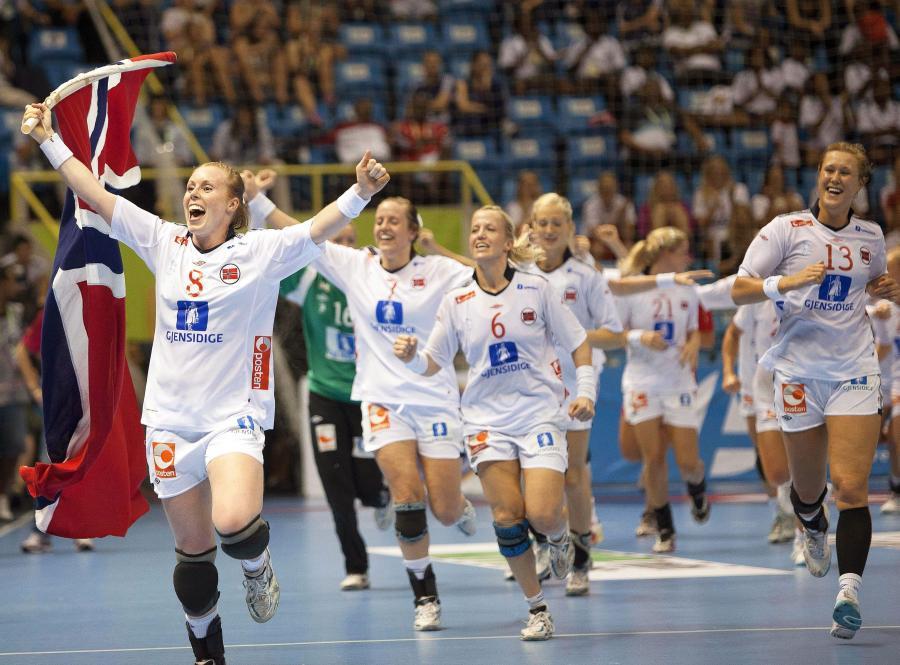 Norweżki ciesza się z wygrania mistrzostw świata