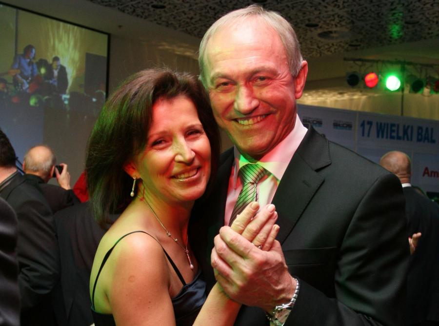 Franciszek Smuda z żoną