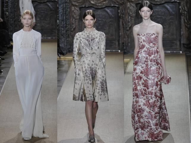 Pokaz domu mody Valentino - kolekcja haute couture wiosna/lato 2012.