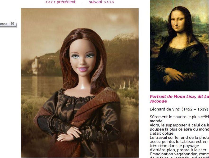 Barbie w roli Mony Lisy – dzieło Jocelyne Grivaud