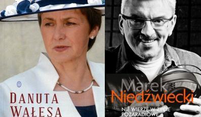Okładki książek Danty Wałęsy i Marka Niedźwieckiego