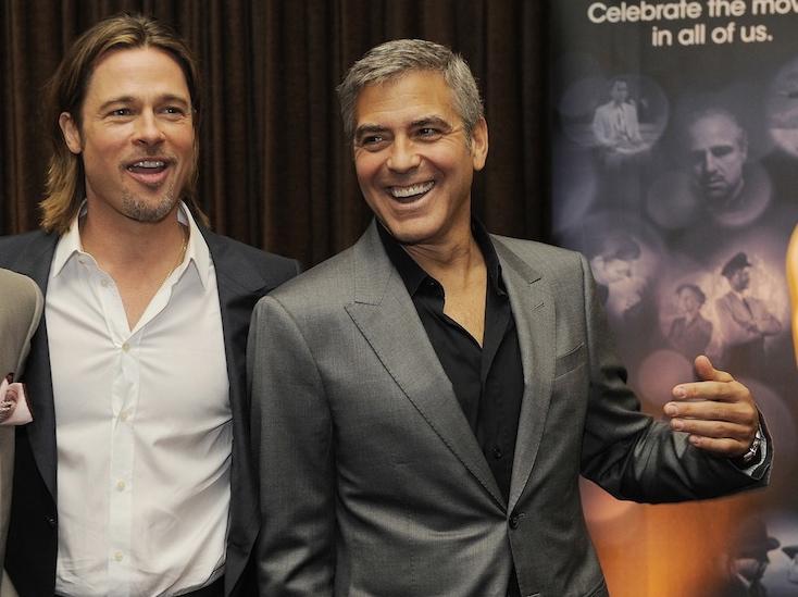 Przyjaciele –George Clooney i Brad Pitt