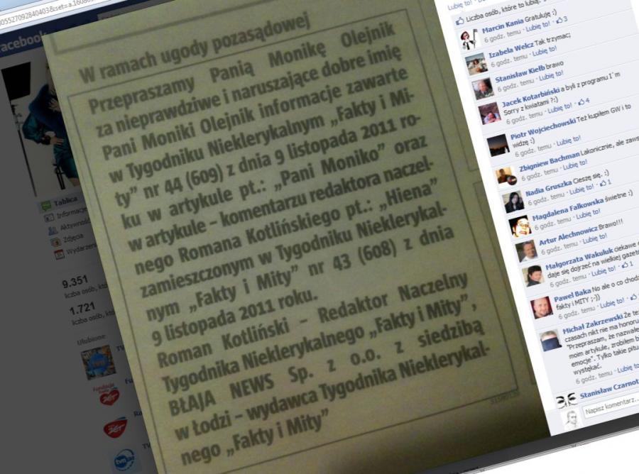 Tak Monika Olejnik pochwaliła się przeprosinami